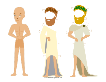 Greek Man Paper Doll paper doll