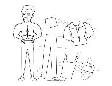 Terminator celebrity paper doll to color together with Liz celebrity paper doll to color also Greek Man with Long Beard Paper Doll to Color additionally Little Red Riding Hood Paper Doll to Color additionally Fashion Paper Doll with Flower to Color. on college ruled paper
