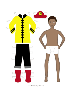 Fireman Paper Doll paper doll