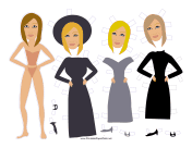 Babs Celebrity Paper Doll