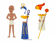 Egyptian Man Paper Doll