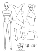 Fashion Paper Doll to Color