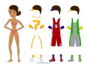 Female Basketball Player Paper Doll