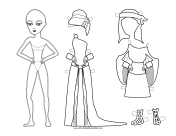 Greek Lady Paper Doll to Color