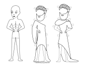Greek Man Paper Doll to Color