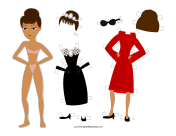 Holly Celebrity Paper Doll
