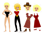 Jolene Celebrity Paper Doll