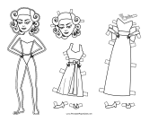 Norma Celebrity Paper Doll to Color paper doll