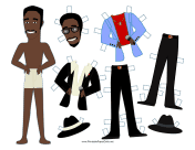 Rat Pack Celebrity Paper Doll