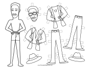 Rat Pack Celebrity Paper Doll to Color