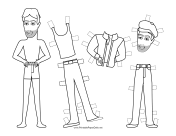 Rocky Celebrity Paper Doll to Color