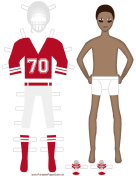 Football Player Paper Doll