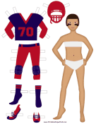 Female Football Player Paper Doll