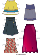 Paper Doll Skirts