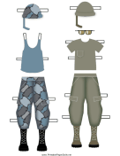 Female Soldier Paper Doll Uniforms